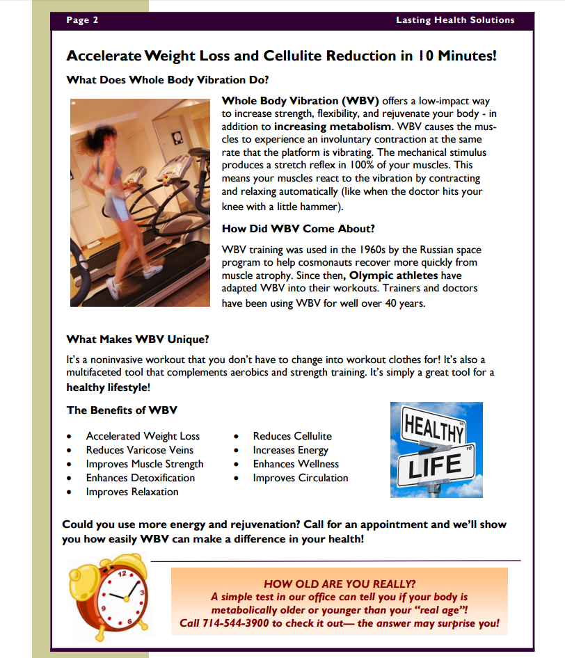 Ballerini Chiropractic Fall 2016 Newsletter Page 2